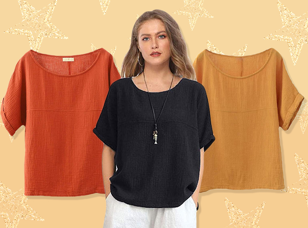 E-Comm: Amazon Breezy Linen Top